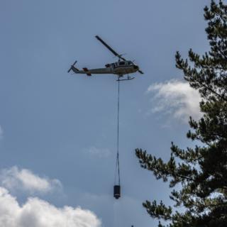 cantieri con uso di elicotteri