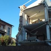 Lavoro in quota negli edifici danneggiati