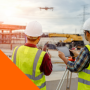 drone in cantiere