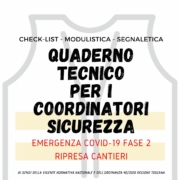 Riapertura cantieri Coordinatore Sicurezza