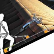 linea di ancoraggio flessibile inclinata