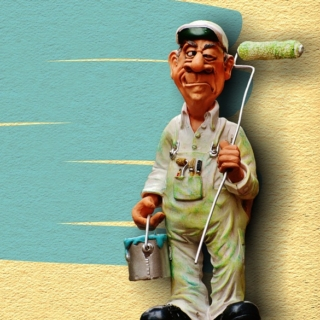 artigiano in cantiere